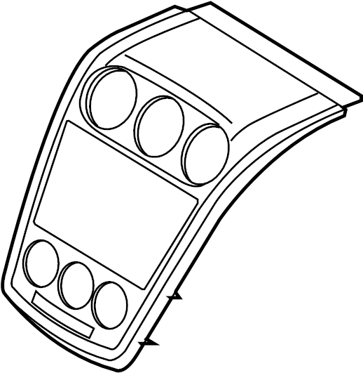 Mazda CX-7 Instrument Panel Trim Panel. 2007-09