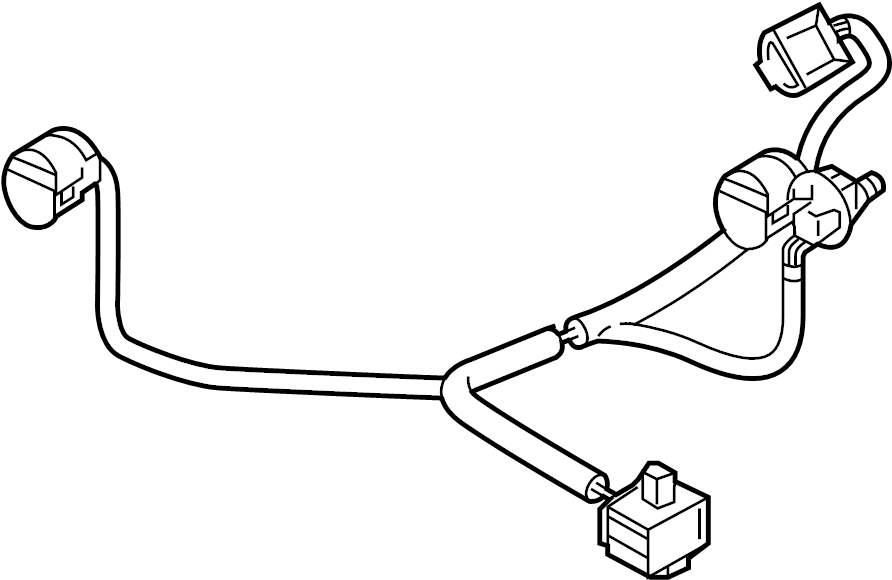 Mazda CX-5 Headlight Wiring Harness. LED. FRONT