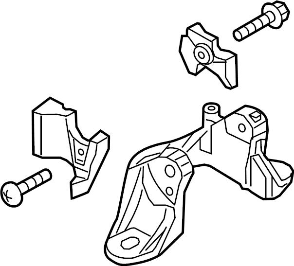 Mazda CX-5 Manual Transmission Mount Bracket. 2.0 LITER