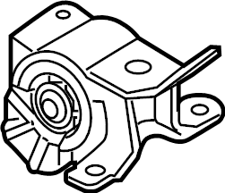 Mazda 6 Automatic Transmission Mount. LITER, Left, AWD