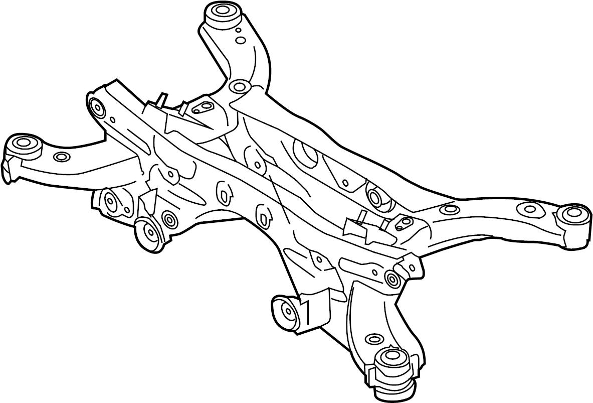 Mazda Cx 5 Suspension Subframe Crossmember Awd Awd W