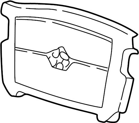 Mazda 626 Horn Actuator Pad. 626 & MX-6. STEERING, WHEEL