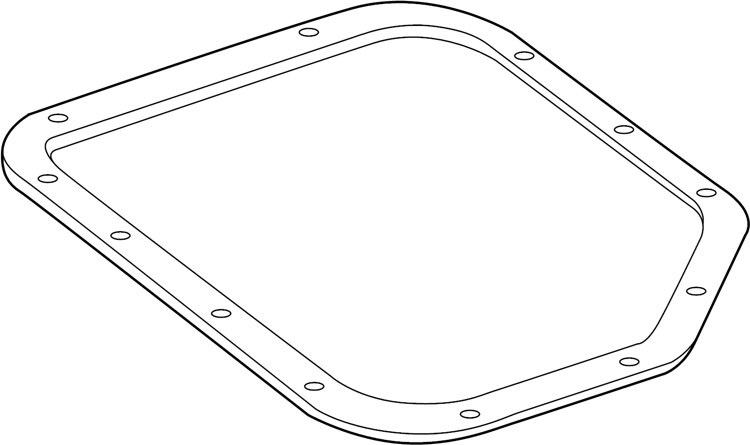 Mazda MX-3 Automatic Transmission Oil Pan Gasket. 323