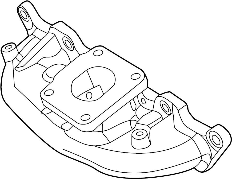 Mazda MPV Exhaust Manifold (Right). Manifold. Exhaust. (R