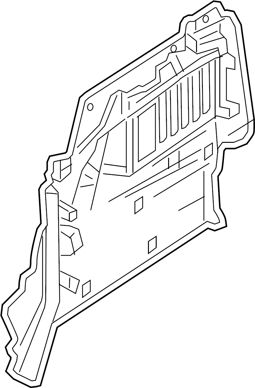 Mazda 6 Interior Quarter Panel Trim Panel. Type A, beige