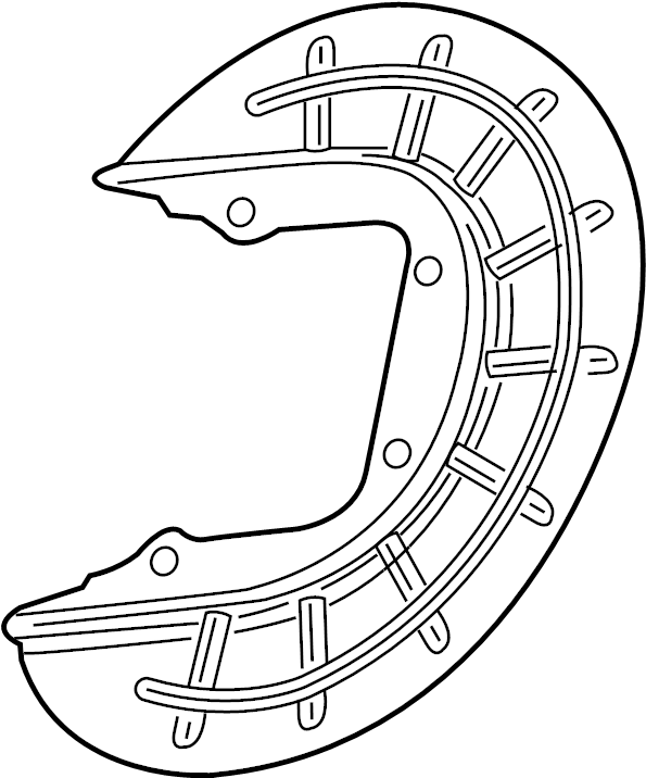 Mazda 626 Brake Dust Shield. SUSPENSION, FRONT, COMPONENTS