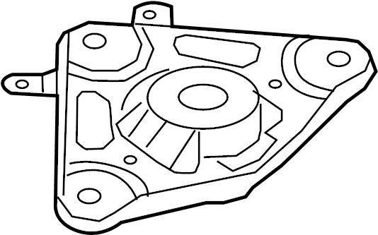 Mazda 626 Suspension Strut Mount (Left, Upper