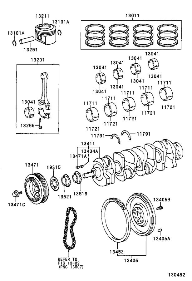 Toyota RAV4 Engine Crankshaft Main Bearing. Bearing