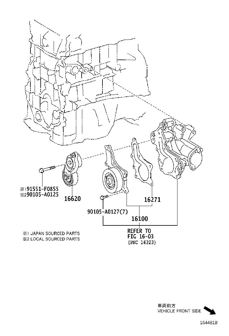 Toyota Camry Accessory Drive Belt Tensioner. Engine
