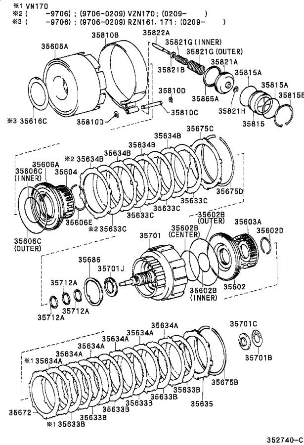 Toyota Tacoma Disc, clutch (for direct multiple disc