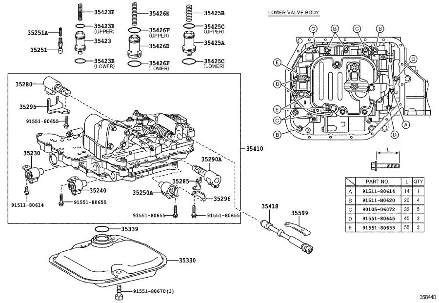 Toyota Yaris Automatic Transmission Control Solenoid. ATM