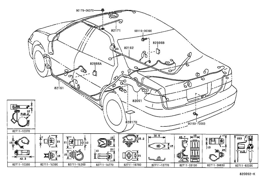 Toyota Camry Connector, wiring harness. Wire, engine, bond
