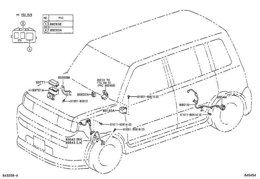 Toyota Sienna Relay. Abs motor; abs solenoid; skid control