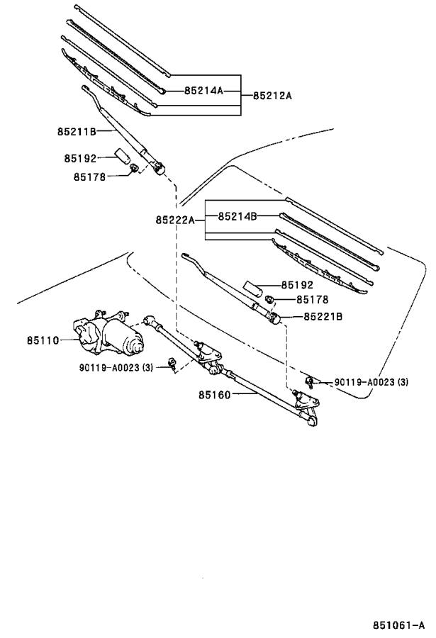 Toyota Tundra Windshield Wiper Linkage (Front). Electrical