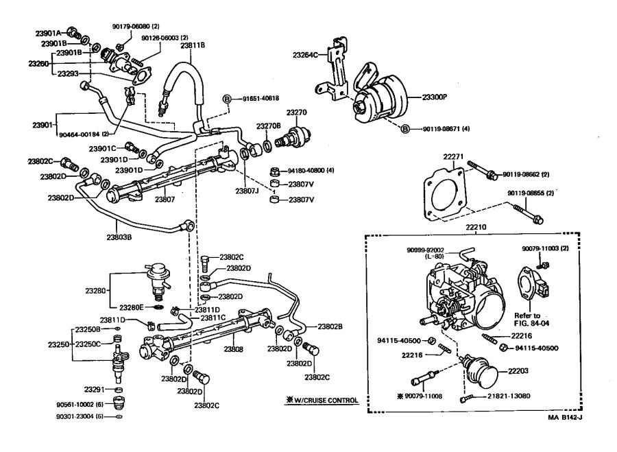 Toyota Truck Fuel Injection Pressure Regulator. A device