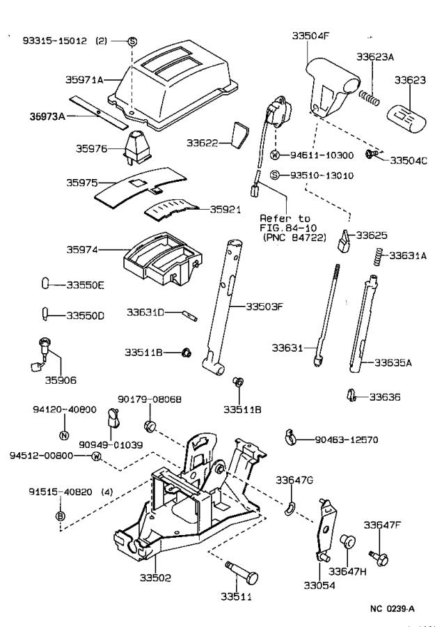 Toyota Corolla Bolt (for control shift lever retainer