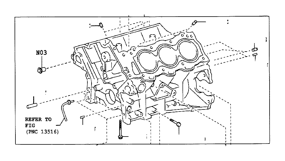 Toyota Sequoia Block sub-assembly, cyli. Engine, pnc