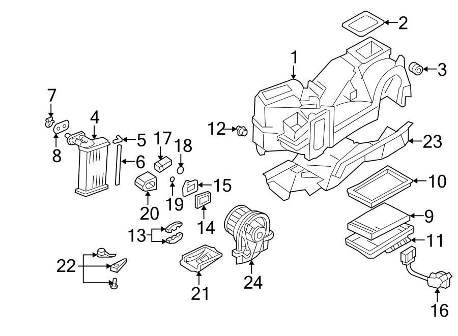 Volkswagen Beetle Hvac unit case (front). Heater