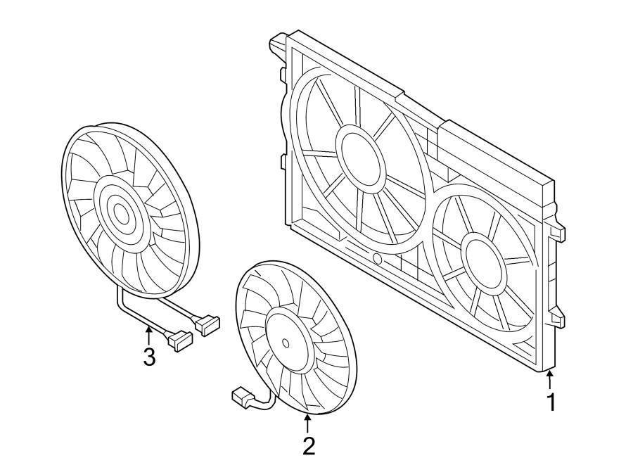 Volkswagen Beetle Engine Cooling Fan Motor. Right, Trans