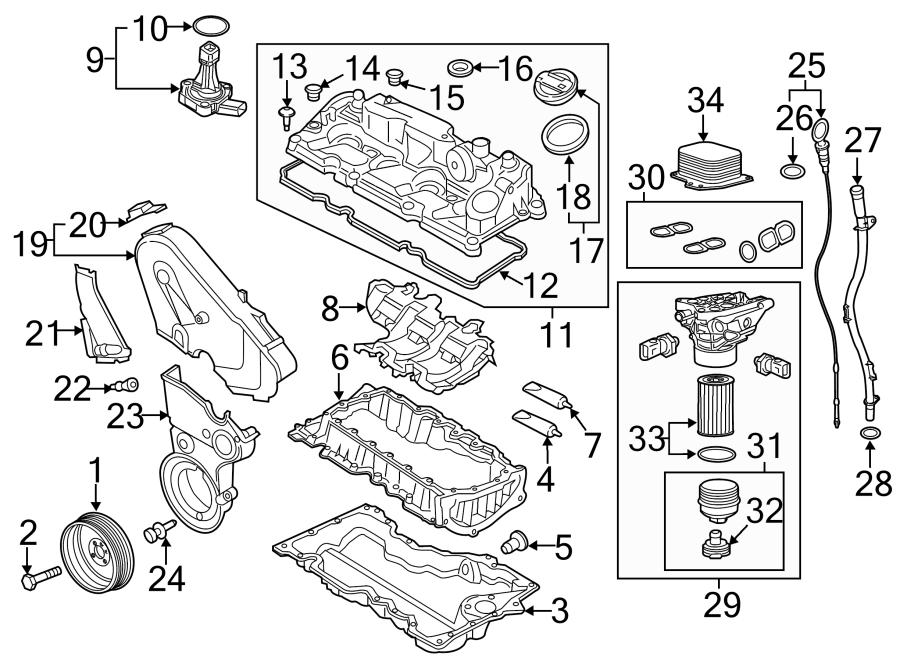 Volkswagen Beetle Engine Valve Cover Grommet. 2.0 LITER
