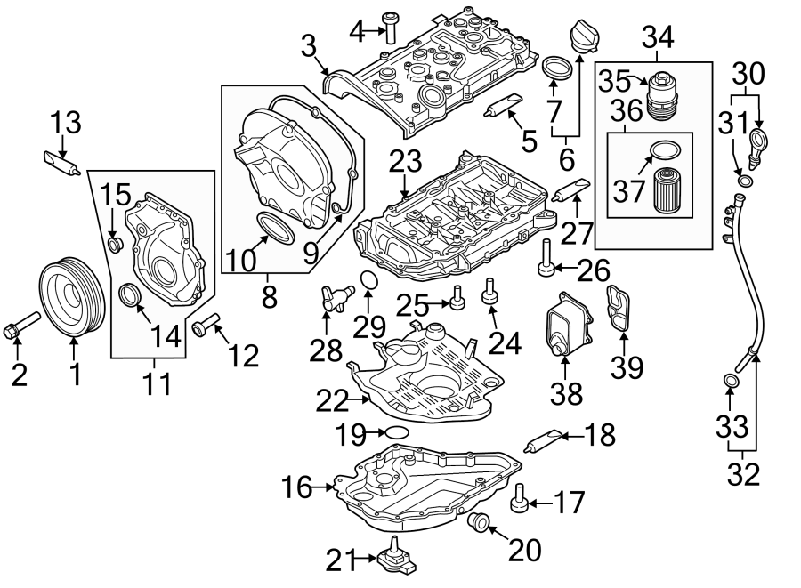 Volkswagen Beetle Convertible Engine Timing Cover (Front