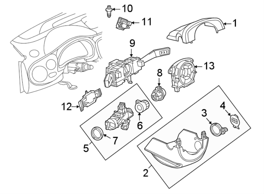 Volkswagen Beetle Steering Column Cover. Upper, Clmn