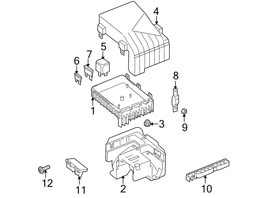Volkswagen Tiguan Fuse Box Cover. ENGINE, COMPARTMENT