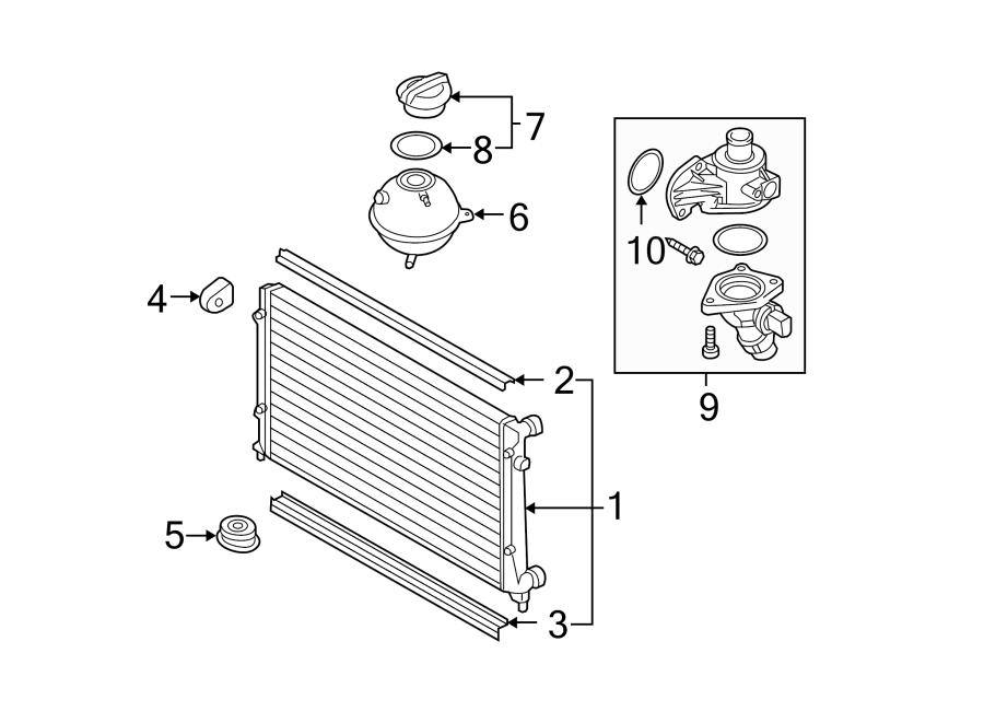 Volkswagen Passat Engine Coolant Thermostat Kit. WTiming