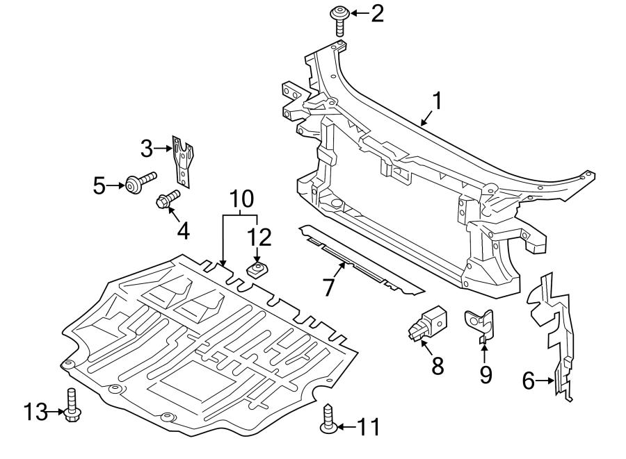 Volkswagen CC Radiator Support Splash Shield (Front, Lower