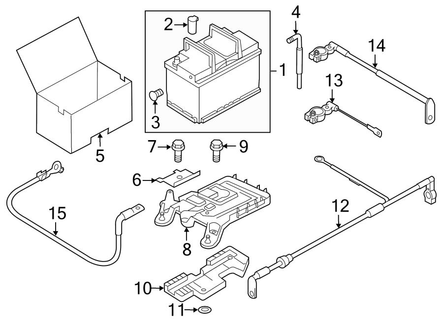 Volkswagen Passat Battery Cable. TRANS, HYBRID, Auto