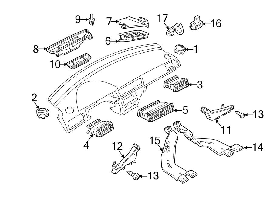 Volkswagen Passat Instrument Panel Air Duct (Front, Rear