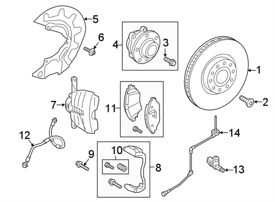 Volkswagen Atlas Abs wheel speed sensor wiring harness