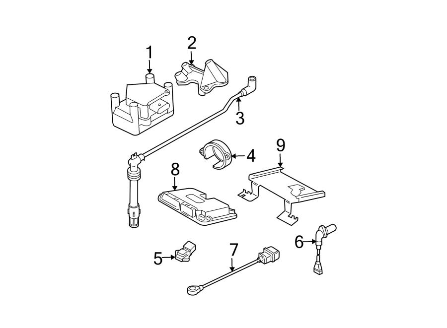 Volkswagen Jetta Wagon Engine Control Module. Trans, Auto