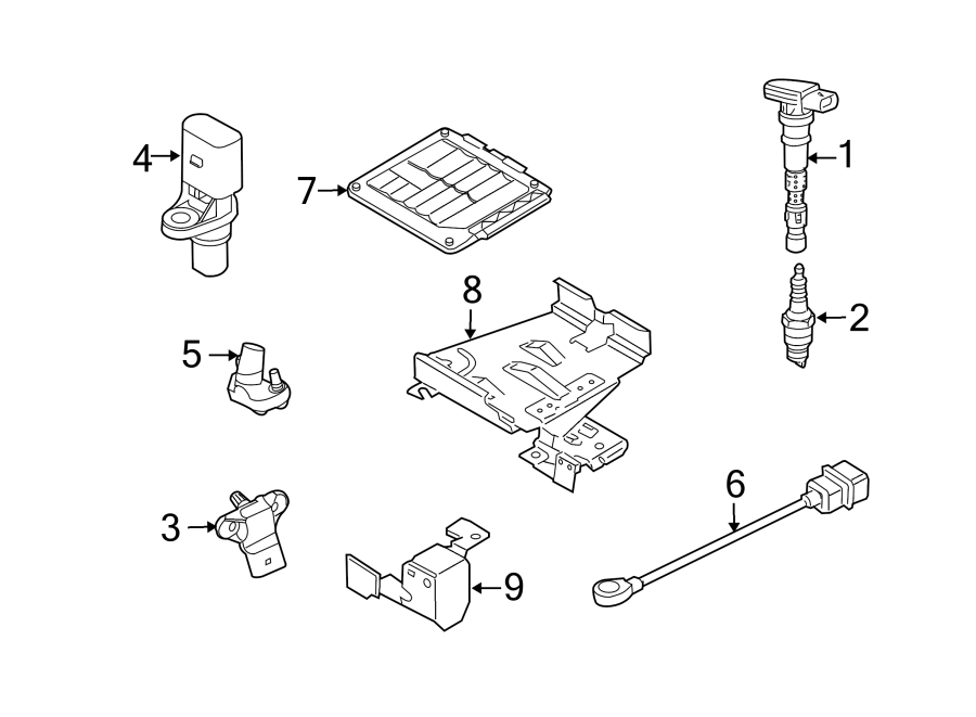 Volkswagen SportWagen Engine Control Module. Trans, Manual