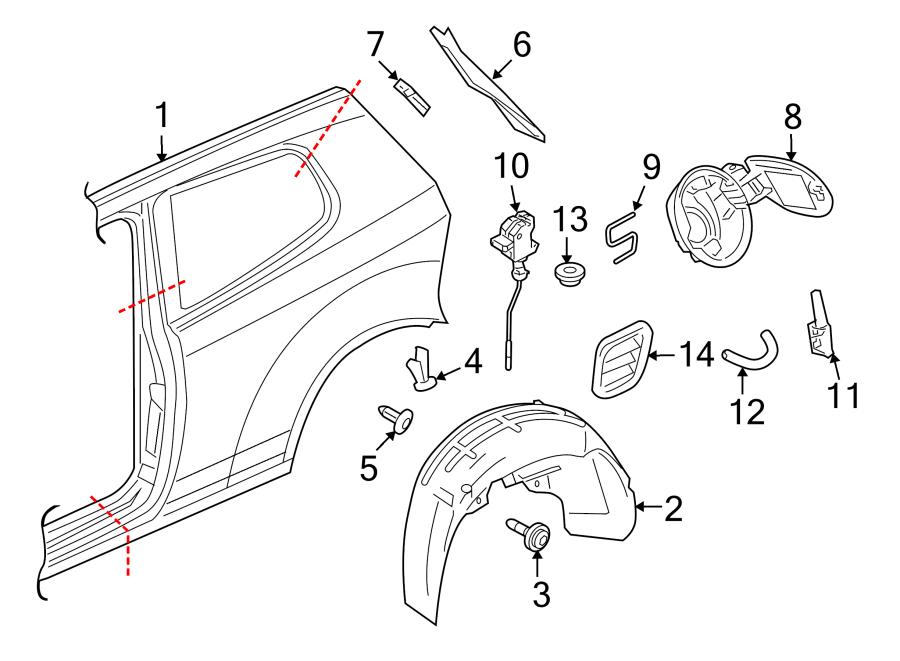 Volkswagen GTI Fuel Filler Door. 2 DOOR. 4 DOOR. GTI. Rear
