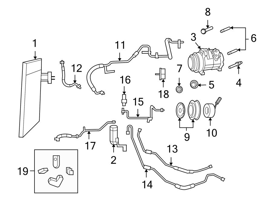 Volkswagen Routan A/c compressor stud. 3.8 liter. 4.0