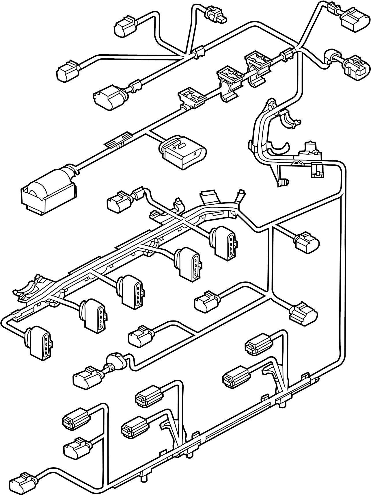 Volkswagen Beetle Engine Wiring Harness. 2.5 LITER, w