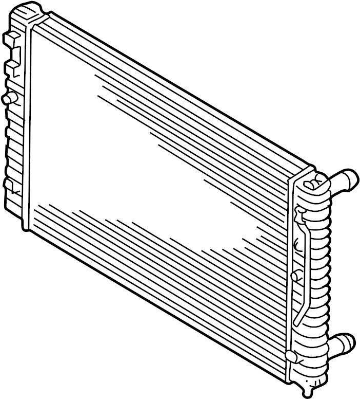 Volkswagen Passat Radiator. Trans, Manual, Cooling