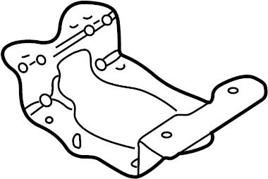 Volkswagen Golf Battery Tray Bracket. Manual trans
