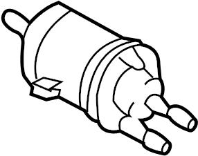 Volkswagen Beetle Convertible Fuel Filter. Fuel Pump