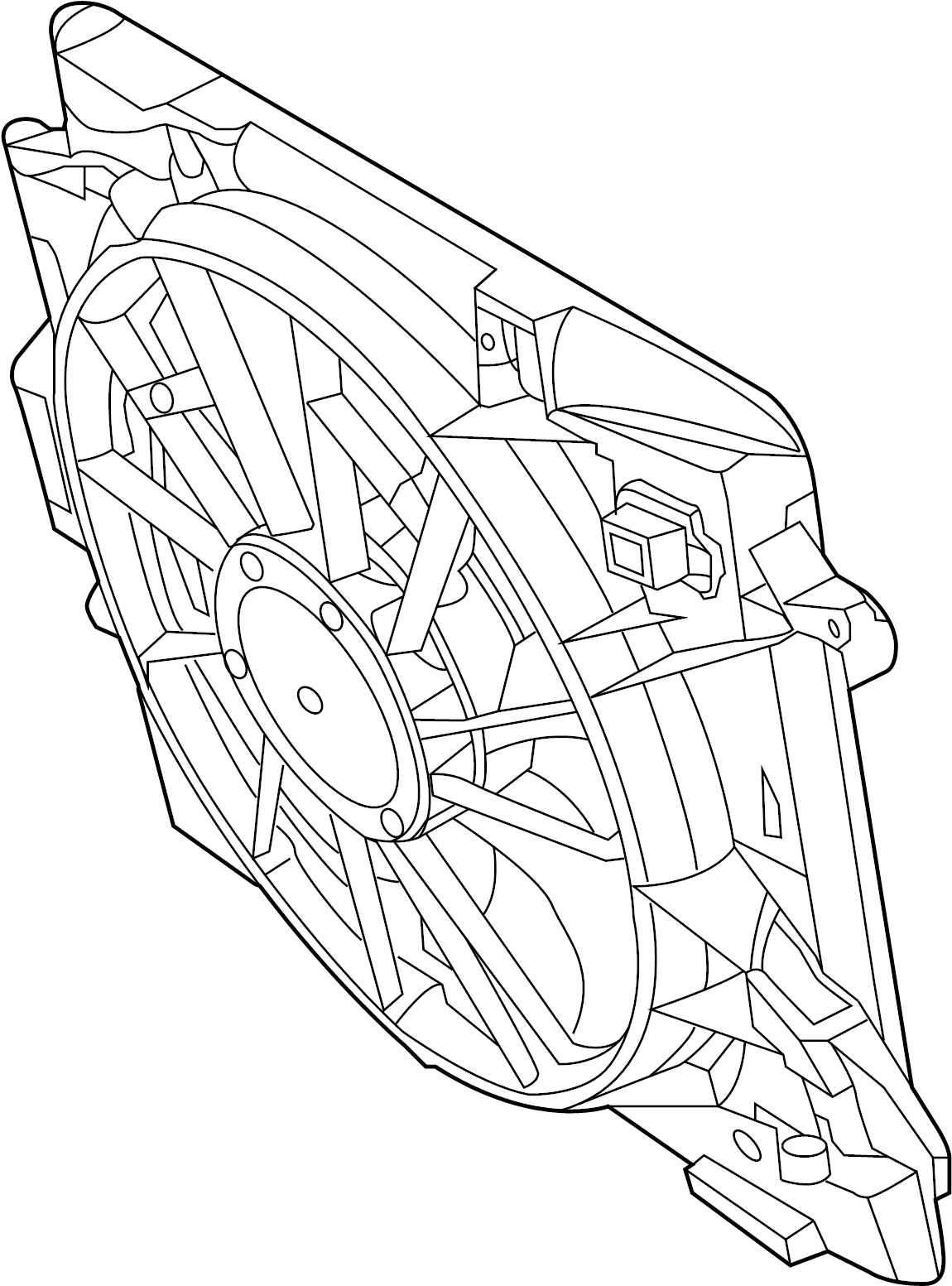 Volkswagen Routan Engine Cooling Fan Assembly. Radiator