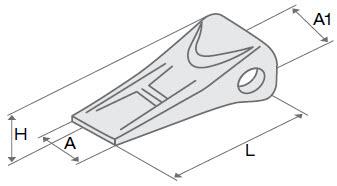 Коронки ковша системы KOMATSU. Коронки, зубья, адаптеры.