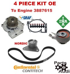 oe timing belt water pump kit 4pc for volvo c30 s40 s60 v50 xc70 from engine 3887616 [ 900 x 900 Pixel ]