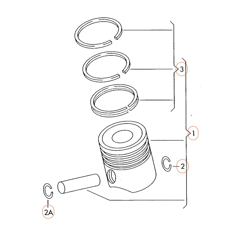 Kolbenschmidt Engine Piston Ring Set For Audi VW CAEB and