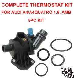 engine coolant thermostat housing cover orings thermostat kit for audi a4 amb parts 4 euro cars [ 900 x 900 Pixel ]