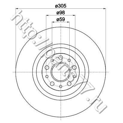 51854567 Диск тормозной передний Fiat Doblo 2010-> 51897455