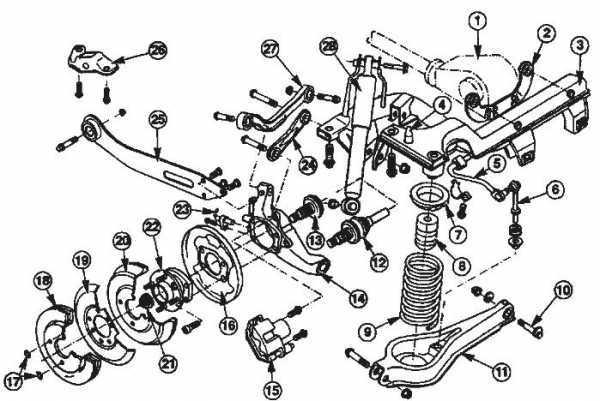 Форд мондео 4 задняя подвеска схема
