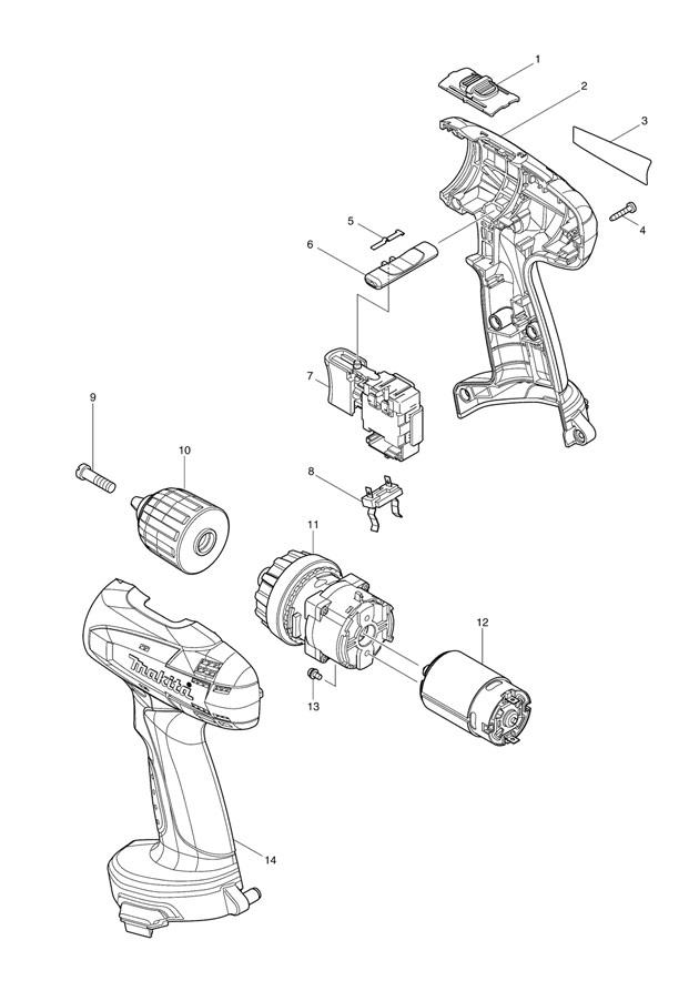 Makita 6281D 14.4v Cordless Driver Drill Spare Parts