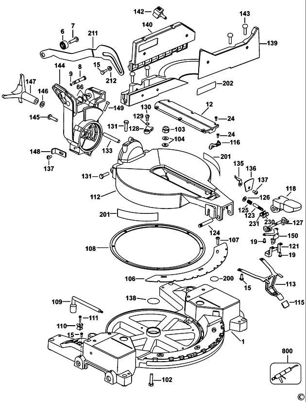 Dewalt Dw703 Type 3 Mitre Saw Spare Parts