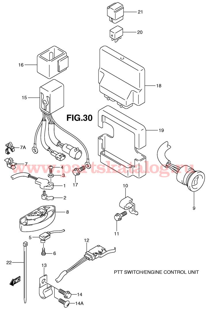 Переключатель силового привода и блок контроля двигателя